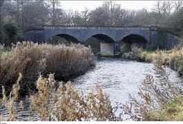 Old railway bridge over River Wensum near Fakenham