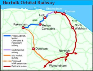 Norfolk Orbital Railway Proposed Route